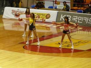 Hillbilly Korean cheerleaders, or something.