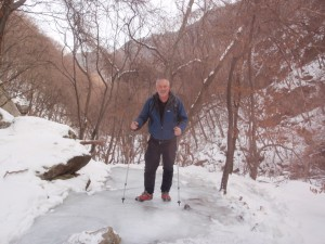 He walks on (frozen) water