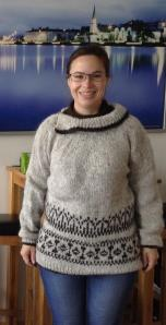 Hand-me-down hand-knit lopapeysa!