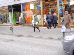 Yarn bombing, Reykjavik style.