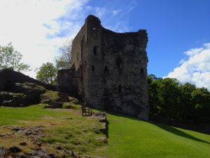 This is Peveril Castle. All of it. And you have to climb a massive hill to get there.